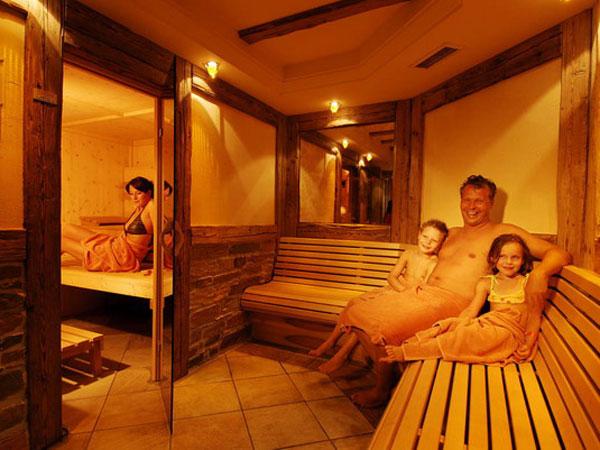 Teens in sauna